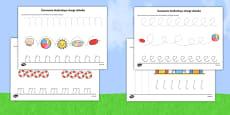 Summer Pencil Control Activity Sheets Polish