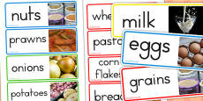 Australia - Food Groups Photo Word Cards