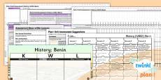 History: Benin UKS2 Unit Assessment Pack