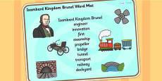 Isambard Kingdom Brunel Word Mat
