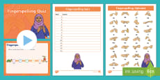 * NEW * Phase 2 High Frequency Words Fingerspelling Quiz Pack