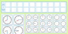 Visual Timetable Display With Clocks Polish - English / Polish