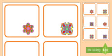 Rangoli Patterns Editable Drawer, Peg, Name Labels