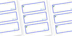 Hummingbird Themed Editable Drawer-Peg-Name Labels (Blank)