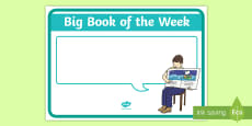 Big Book of the Week Display Poster