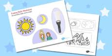 Light and Dark Cutting Skills Activity Sheet