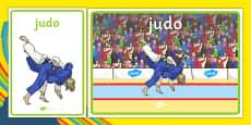 Rio 2016 Olympics Judo Display Posters