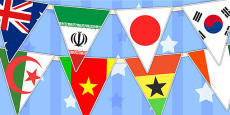 Football World Cup 2014 Country Flag Bunting