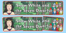 Snow White and the Seven Dwarfs Display Banner