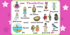 Thumbelina Word Mat