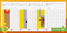 Ficha de actividad de atención a la diversidad: Mosaico de multiplicación - Año Nuevo Chino
