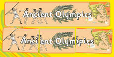Ancient Olympics Display Banner