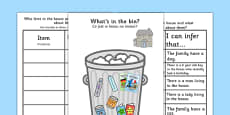 What\'s In The Rubbish? Making Inferences Activity Polish Translation