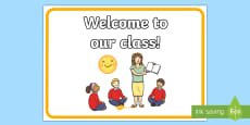 Welcome to Our Class Display Poster