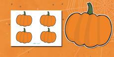 Editable Halloween Pumpkin (Small)