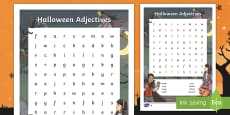 * NEW * Halloween Adjectives Differentiated Word Search