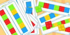 Block Colour Matching Cards Set 2