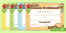 Gesunde Brotbüchse Zertifikate
