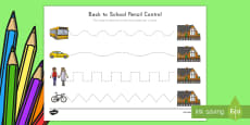 Back to School Pencil Control Activity Sheet