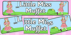 Little Miss Muffet Display Banner