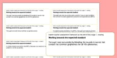 End of Key Stage 1 English Reading Objectives Sticker Templates