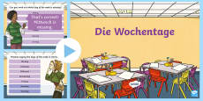 Days of the Week PowerPoint German