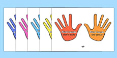 Kind Hands Display Cut Outs