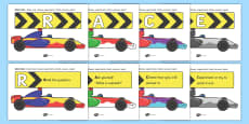RACE CAR Problem Solving Display Posters