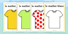 Tour de France Jersey Posters French