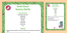 Munch Munch Sensory Bottle to Support Teaching on The Very Hungry Caterpillar