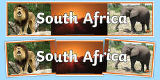 South Africa Photo Display Banner