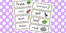 Australia - The Ant and the Grasshopper Word Cards