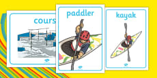 Rio 2016 Olympics Canoeing Display Posters