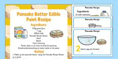 Pancake Batter Edible Paint Recipe