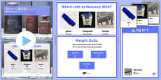 Maths Intervention Weight Unit Pack