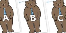 A-Z Alphabet on Daddy Bear