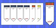 Tartan Bookmarks (Editable)