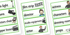 Film Studio Role Play Labels