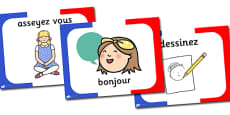 French Classroom Commands PowerPoint