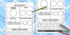 Circle Shape Activity Sheet