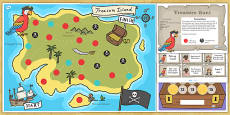 Pirate Treasure Hunt Board Game