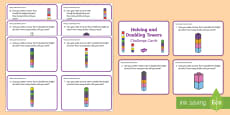 Halving and Doubling Towers Challenge Cards