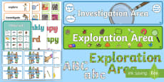 * NEW * EYFS Investigation Area Classroom Set Up Pack