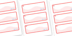 England Themed Editable Drawer-Peg-Name Labels (Colourful)