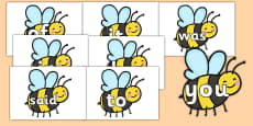 100 High Frequency Words on Bees