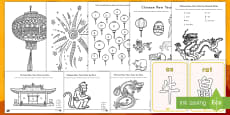 * NEW * Chinese New Year Coloring Activity Pack