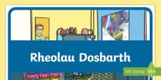 Poster Rheolau Dosbarth