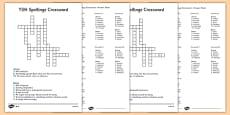 Year 3-4 Statutory Spelling List Crossword Pack