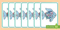 El pez arcoiris los días de la semana de exposición