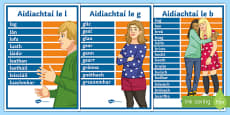 Irish Alphabetical Adjectives Display Posters Gaeilge